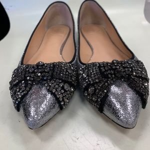 Tory Burch Sequin Bow Flats